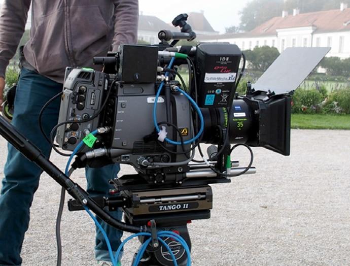 Kamera F65 mit anamorphotischem Objektiv