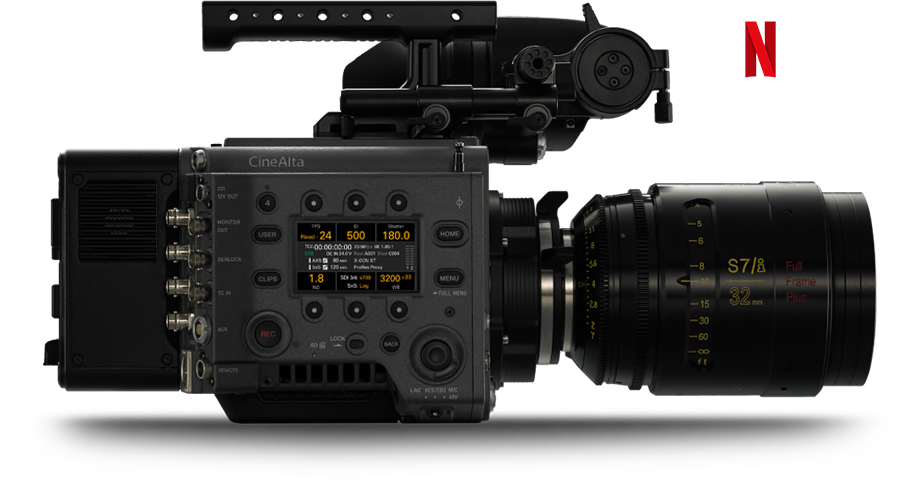 VENICE Full Frame Motion Picture Camera—side-view with Assistant Display active