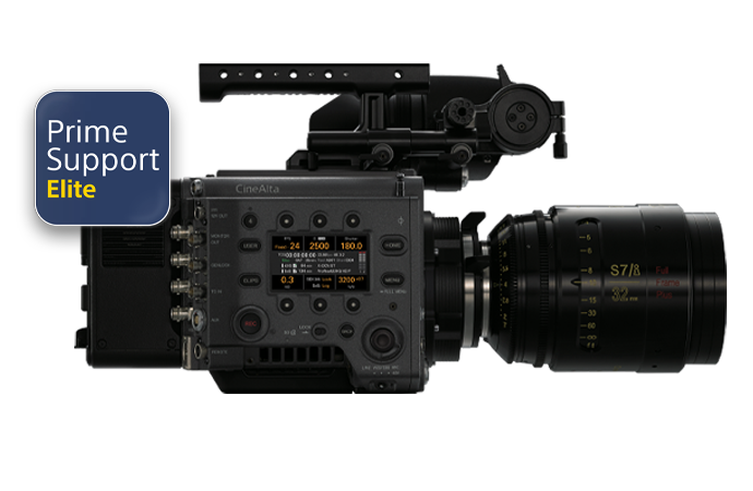 VENICE Digital Cinema Camera with PrimeSupport Elite logo.