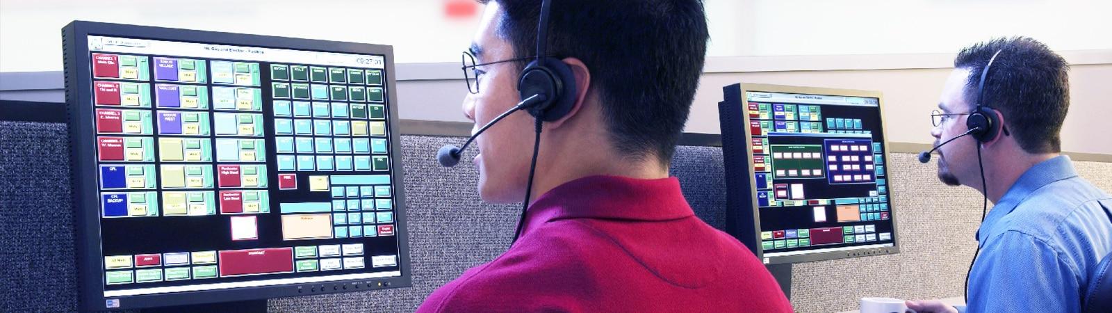 Customer service representatives handling enquiries