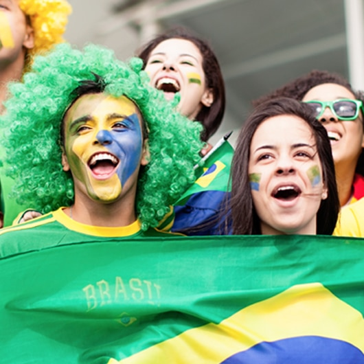 Brazil football supporters