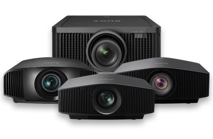A montage of our Home Cinema projectors