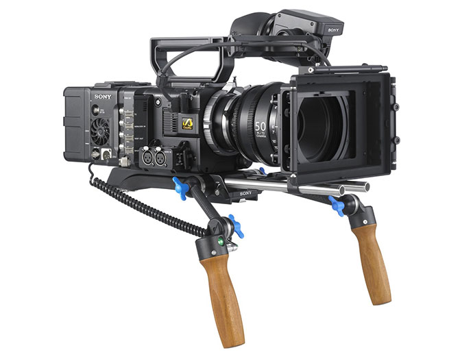 PMW-F55 with shoulder mount