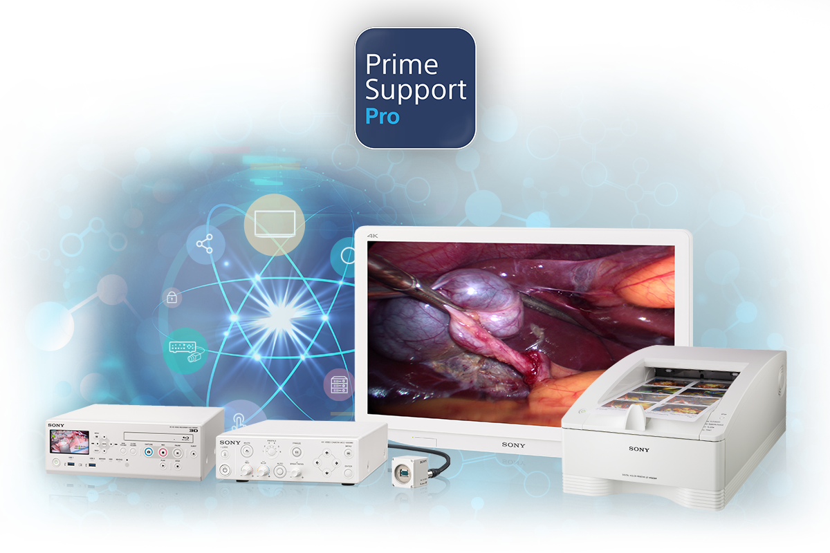 Sony Medical hardware including monitors, printer, recorders and cameras which are covered by PrimeSupport