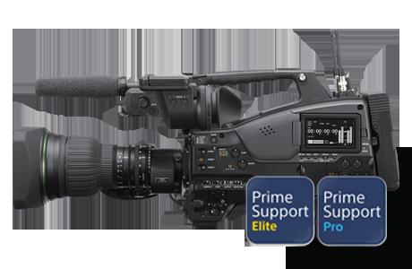 PXW-Z450 with PrimeSupportElite and PrimeSupportPro logos