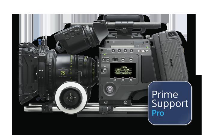 Caméra F65 avec le logo PrimeSupportPro