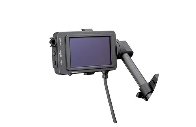 Visor versátil en la cámara PWX-FS7