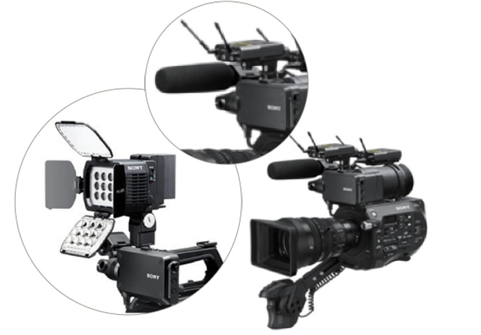 Multi-Interface (MI) Shoe on the PXW-FS7