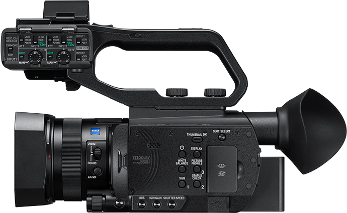 Side-view of PXW-Z90 camcorder