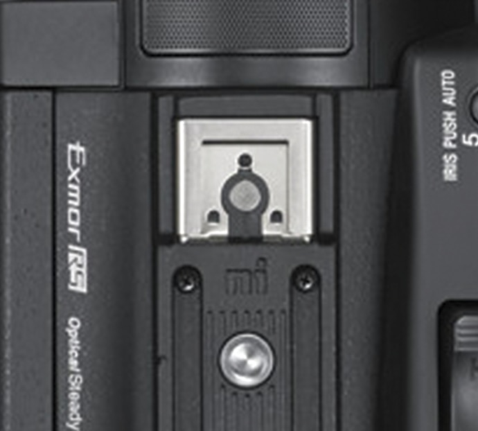 Close-up of Multi-Interface Shoe on PXW-Z90