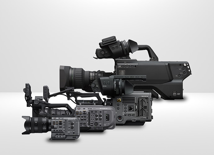 Family shot of Sony camcorders