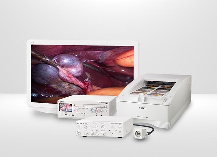 Foto der Produktreihe der medizinischen Monitore und Produkte