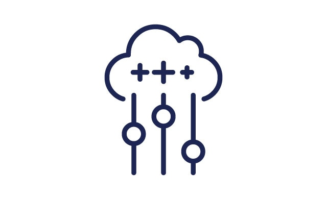 Cloud with plus symbols