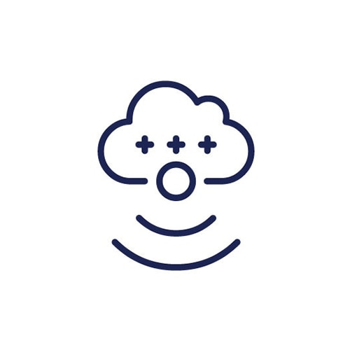 Cloud with plus signs
