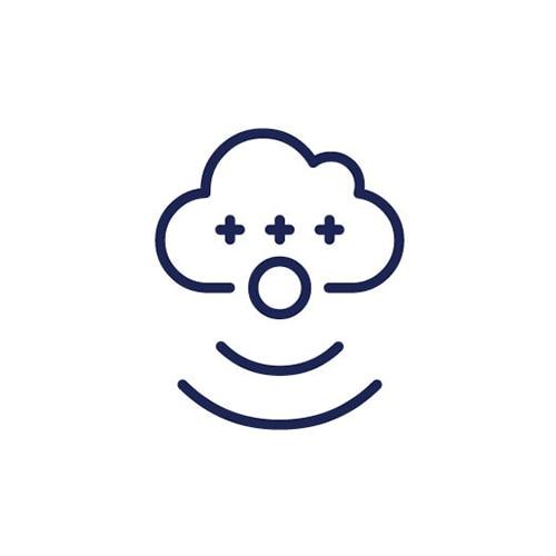 Nube con signos más