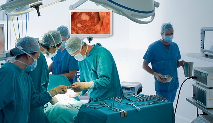 Wireless printing optimises space in the OR, as printers are moved outside