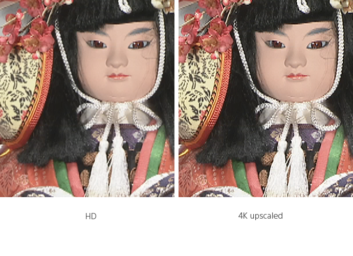 4K and HD comparison of two ethnic dolls