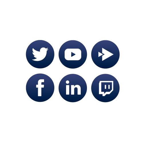 Icône illustrant les réseaux sociaux