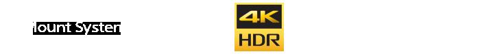 Alpha-mount lens system, Exmor CMOS Sensor, 4K HDR, XDCAM, XAVC