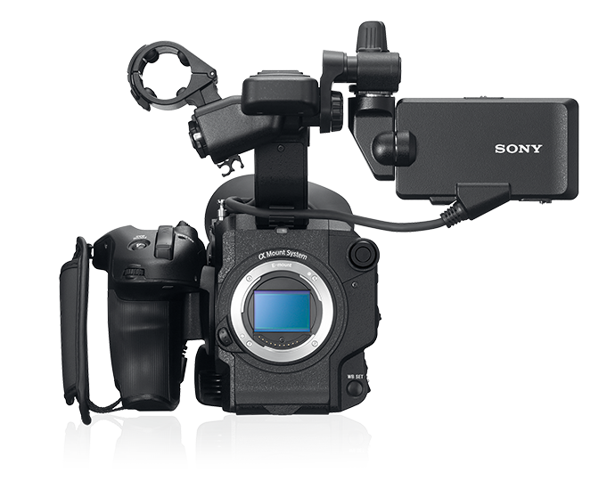 Front view of FS5 II without lens