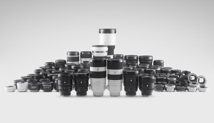 Sony e-mount lens range