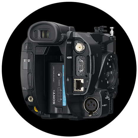 Rear view of FS5 II showing connectors