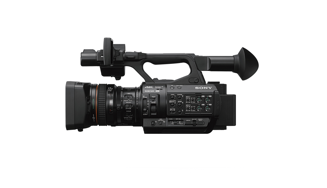 Side-view of PXW-Z280 handheld camcorder