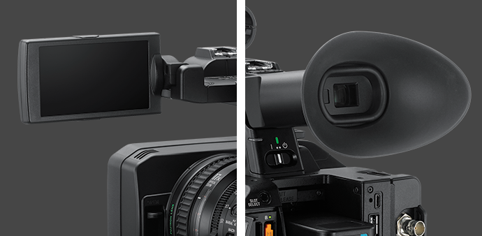 PXW-Z280's OLED viewfinder