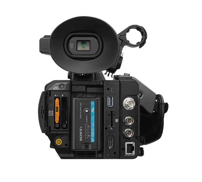 Rear view of PXW-Z280 handheld camcorder