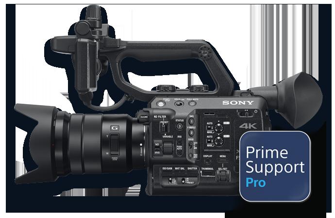 PXW-FS5 II with PrimeSupport Pro logo