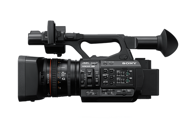 Side-view of PXW-Z190 handheld camcorder