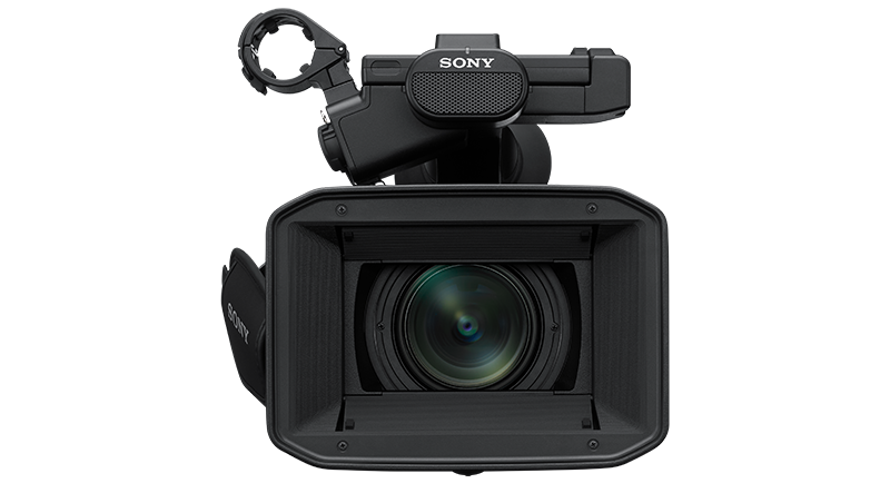 Front view of PXW-Z190 camcorder
