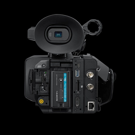Rear view of PXW-Z190 handheld camcorder