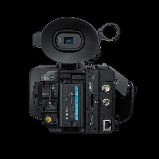 Vista posteriore del camcorder portatile PXW-Z190