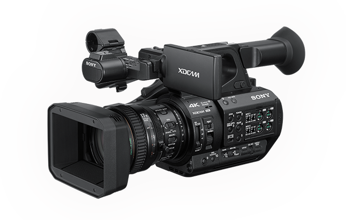 3/4 view of PXW-Z280 handheld camcorder