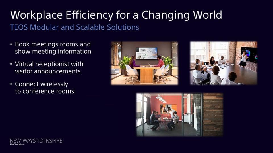Масштабируемый эффективный подход к корпоративным офисным пространствам, позволяющий расширить возможности совместной работы в режиме реального времени.