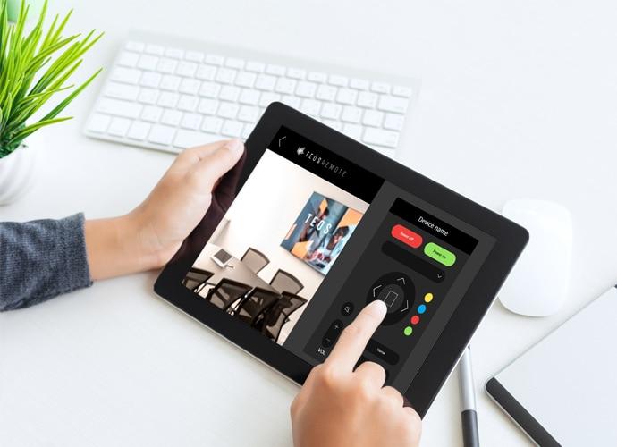 Bild zeigt die Benutzeroberfläche für Tablets mit TEOS.