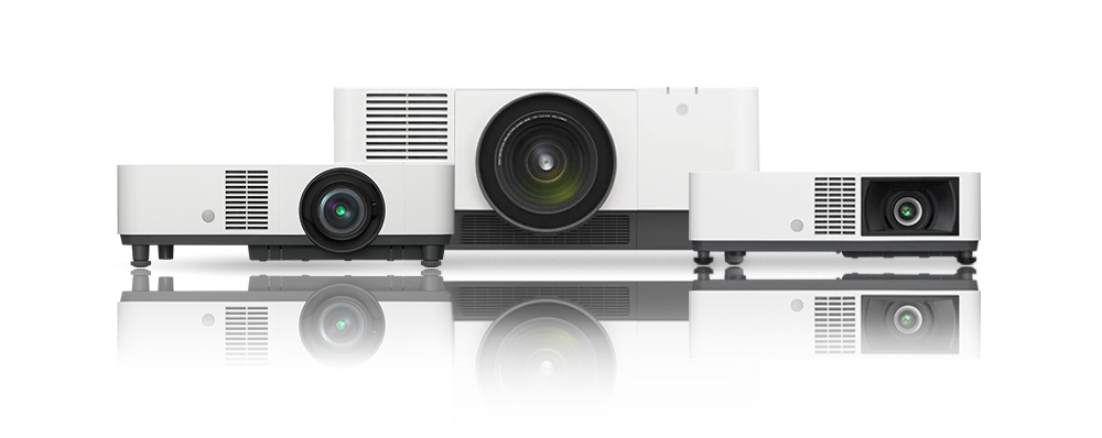 Front image shot of Sony laser projectors for education and business