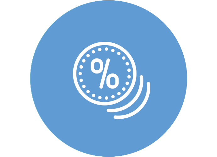 An icon of coins indicating lower ownership costs