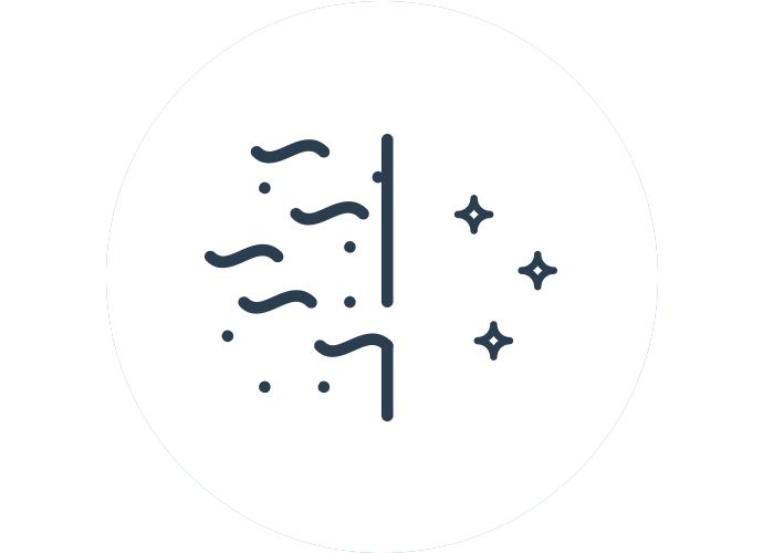 Dust particle filtration icon
