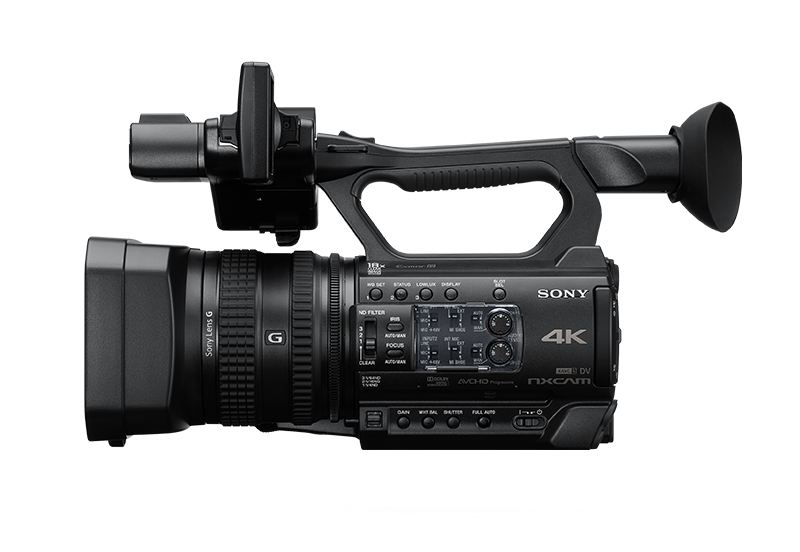 Side-view of HXR-NX200 NXCAM Camcorder