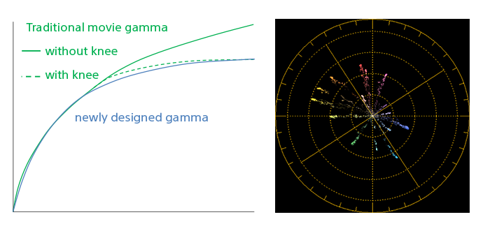 Chart showing traditional gamma and new NX200 gamma curve