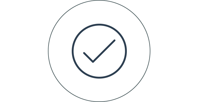 Tick and ready icon