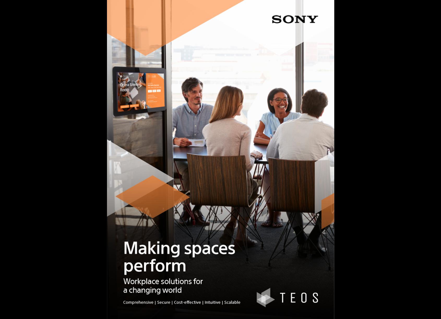 Титульная страница брошюры TEOS: «Как заставить помещения работать: решения для рабочих пространств в меняющемся мире»