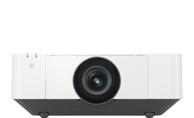 A front-facing view of the VPL-FHZ75 projector