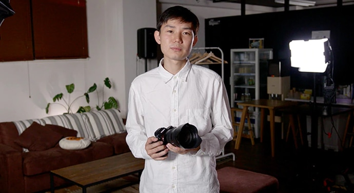 Nicholas Takeyama with ILC camera