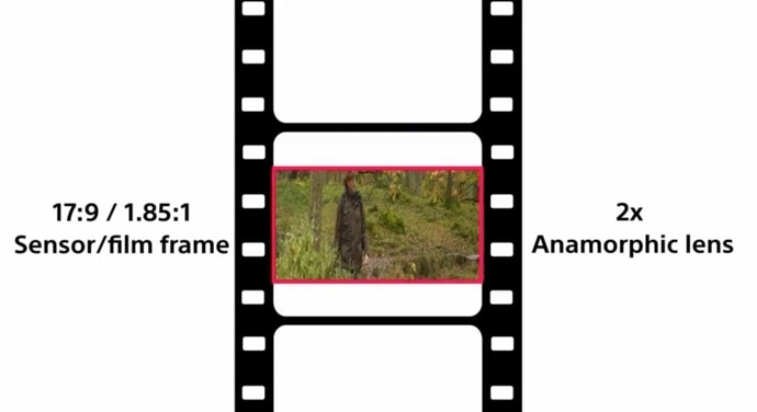 Diagram showing anamorphic frame
