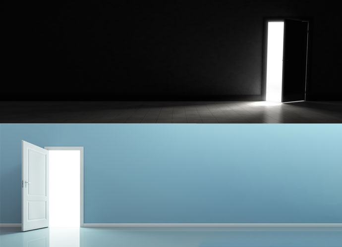 Image showing the difference between a dark and a light room.
