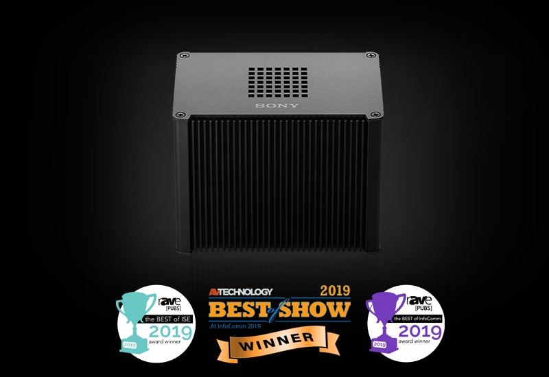 Edge Analytics Appliance displaying multiple AV awards won at InfoComm and ISE since its launch