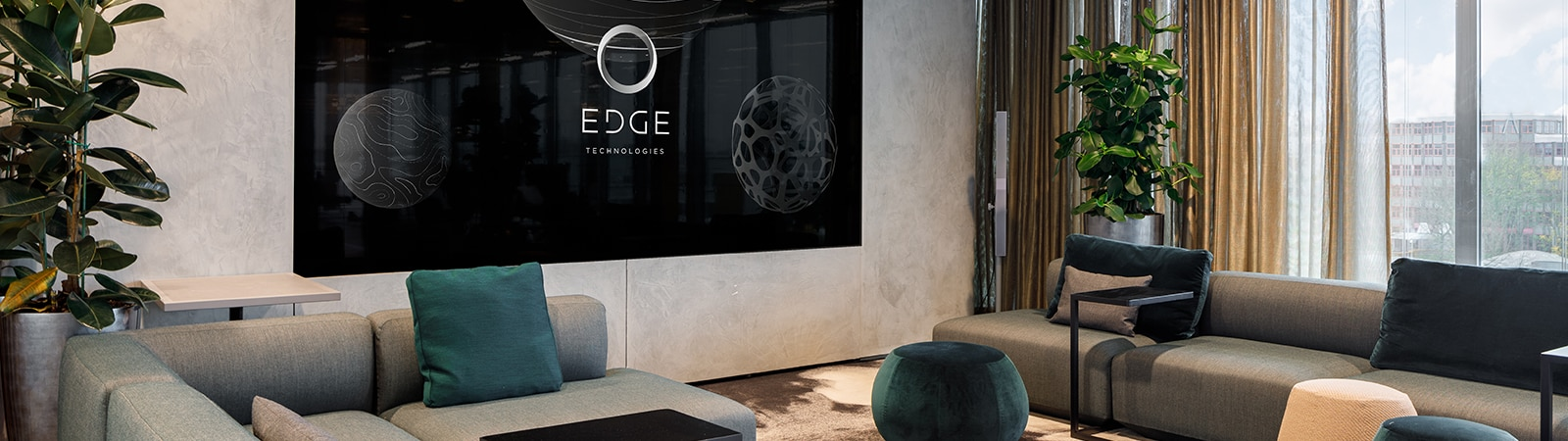 Crystal LED displays at EDGE Technologies landmark sustainable building
